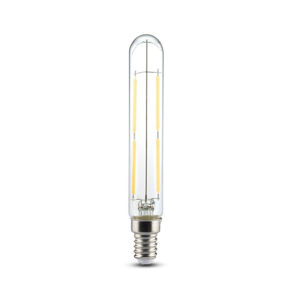 Bec LED 4W, E14, T20, Filament Sticla Clara, Lumina Naturala 4000K