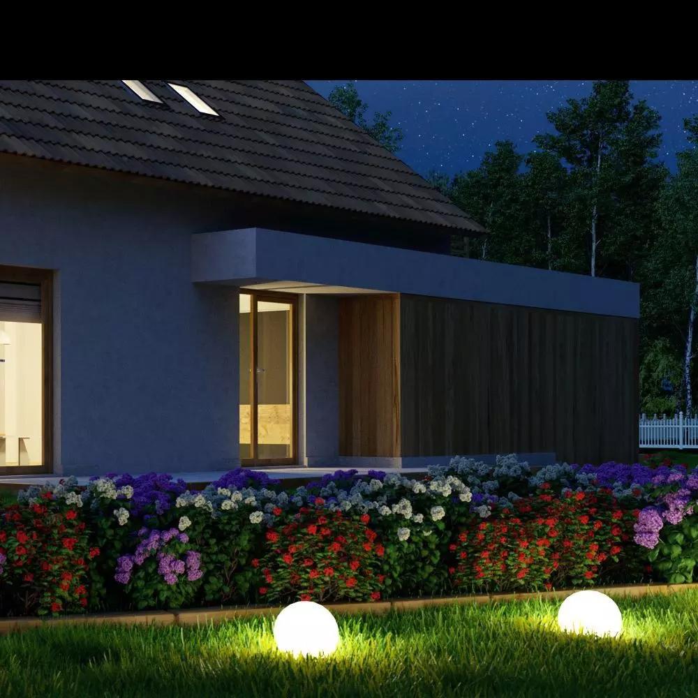 Lampa LED Sfera RGB 1W cu Telecomanda, D30x29CM, IP65