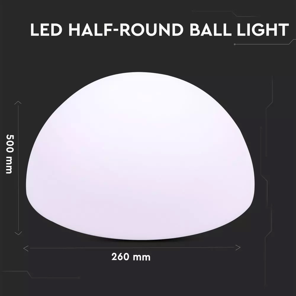 Lampa LED Jumatate de Sfera RGB 6W, D50x26CM, IP65