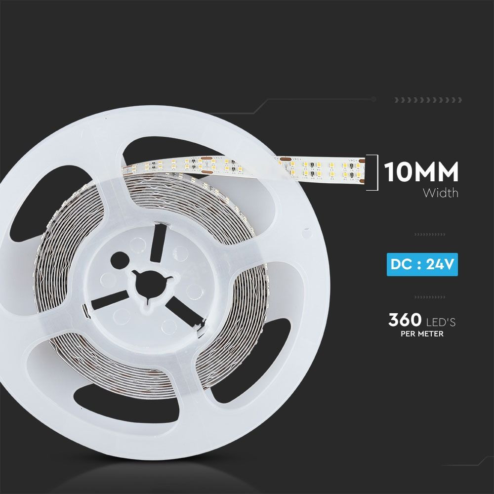 Banda LED SMD2216, 360LED/M, DC24V, 30W/M, Lumina Calda 3000K