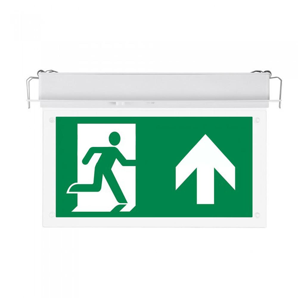 Lampa LED Exit 2W, Montaj incastrat, Lumina Rece 6000K