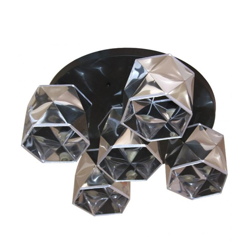 Candelabru cu 5 Corpuri RAFAEL, Soclu E14, Silver