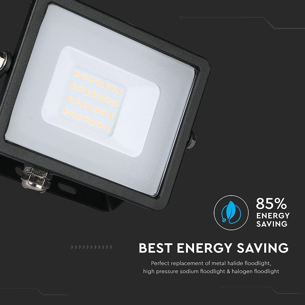 Proiector LED 10W, Corp Negru, Lumina Calda (3000K) cu Cip Samsung