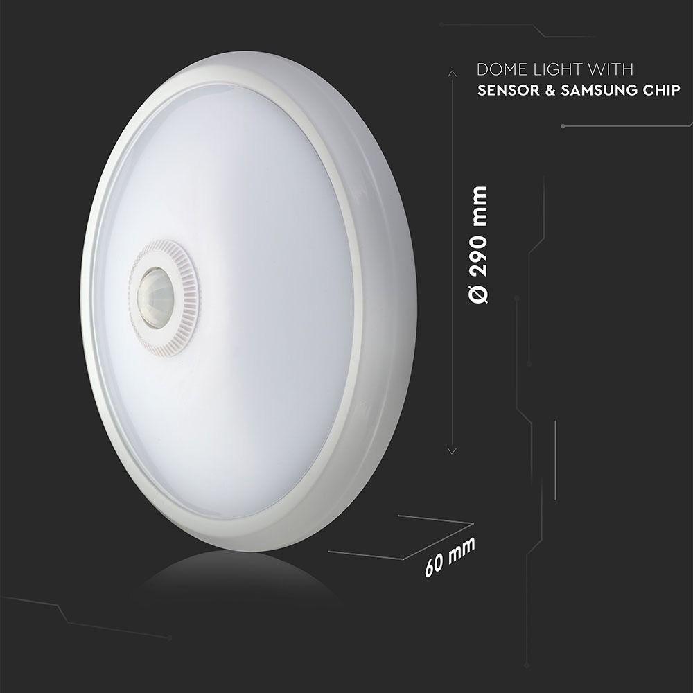 Aplica LED cu Senzor 12W, Lumina Naturala 4000K - Samsung
