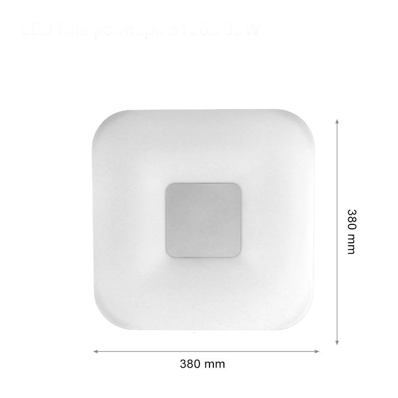 Aplica LED Slim Patrata 32W, Lumina Naturala 4000K