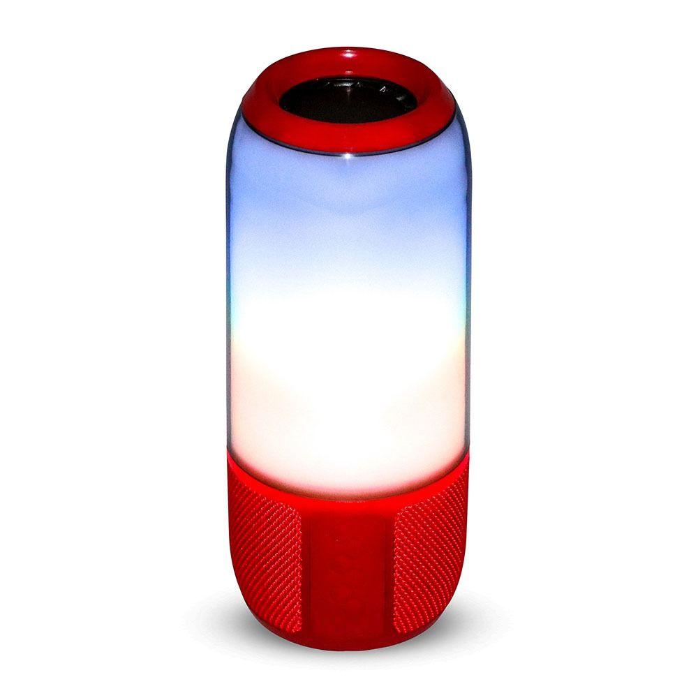 Boxa LED Luminoasa 2x3W CU BLUETOOTH, USB & TF SLOT, Corp Rosu