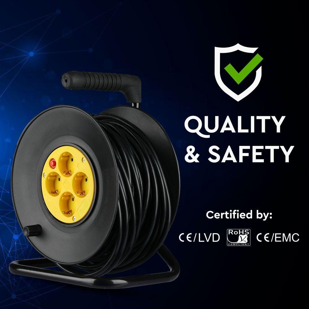Rola Prelungitor 25M cu Cablu 3x1.5MM