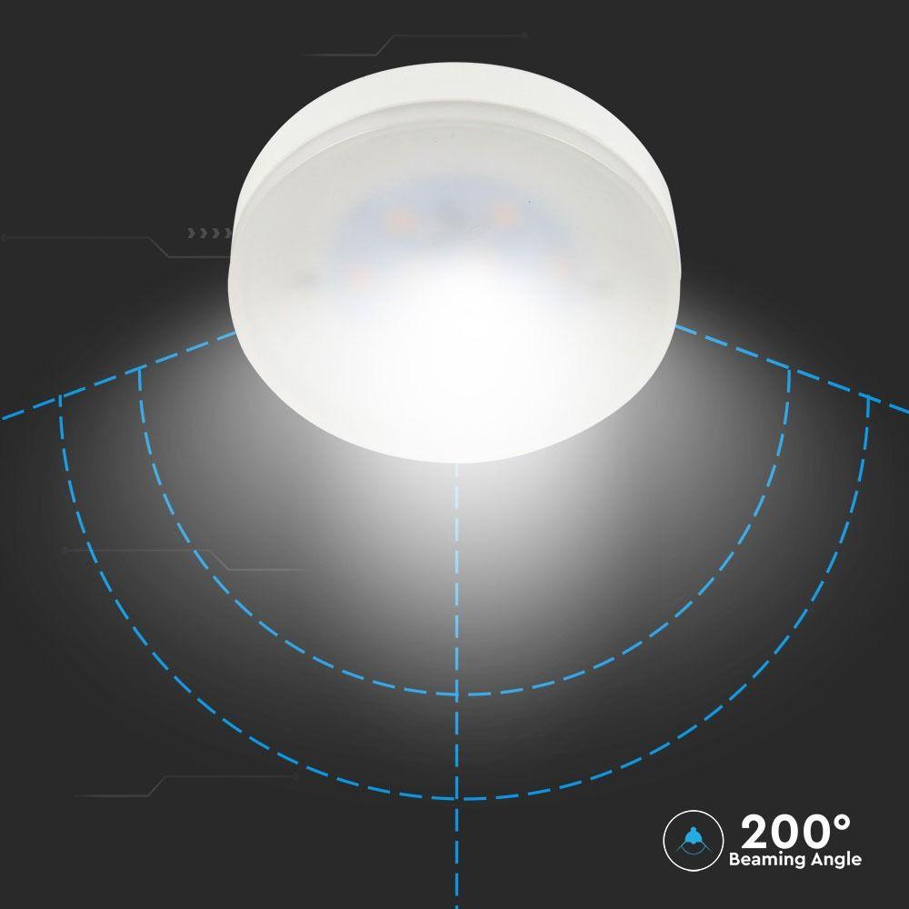 Bec LED 7W, GX53, PLASTIC, Lumina Naturala 4000K cu Cip SAMSUNG
