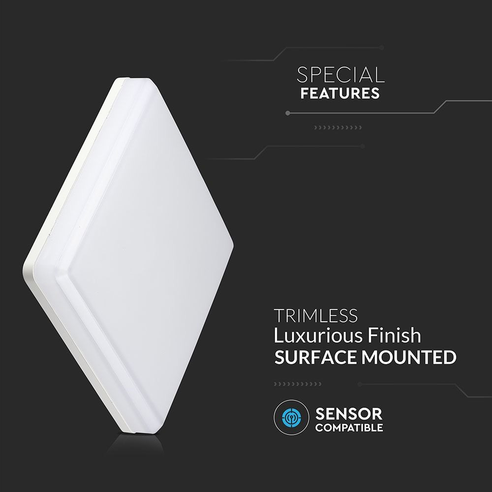 Aplica LED Patrata 25W, Lumina Naturala 4000K