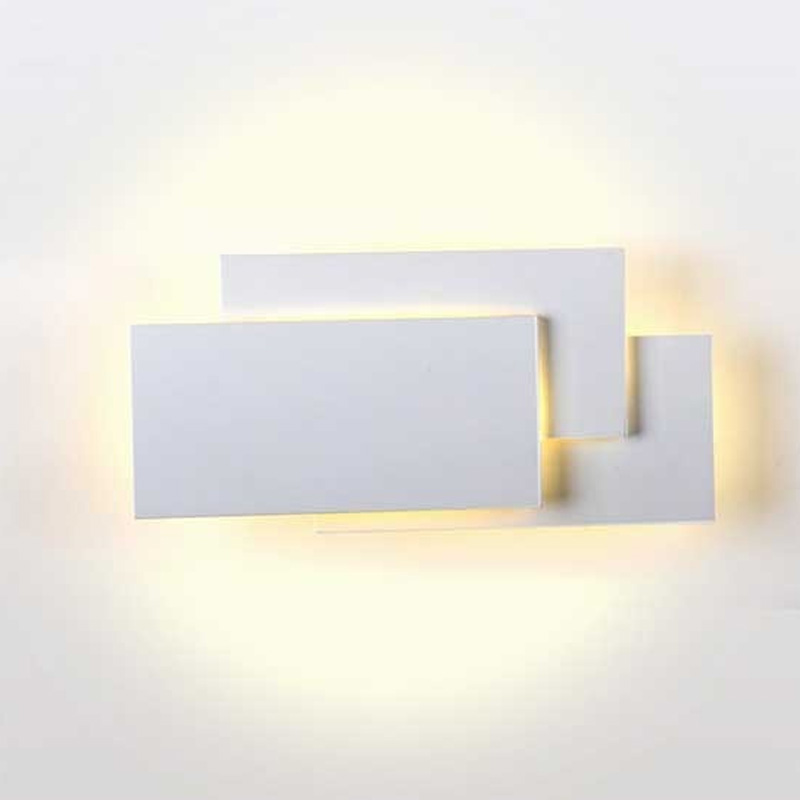 Lampa LED de Perete 12W, Corp Gri, IP20, Lumina Naturala (4000K)