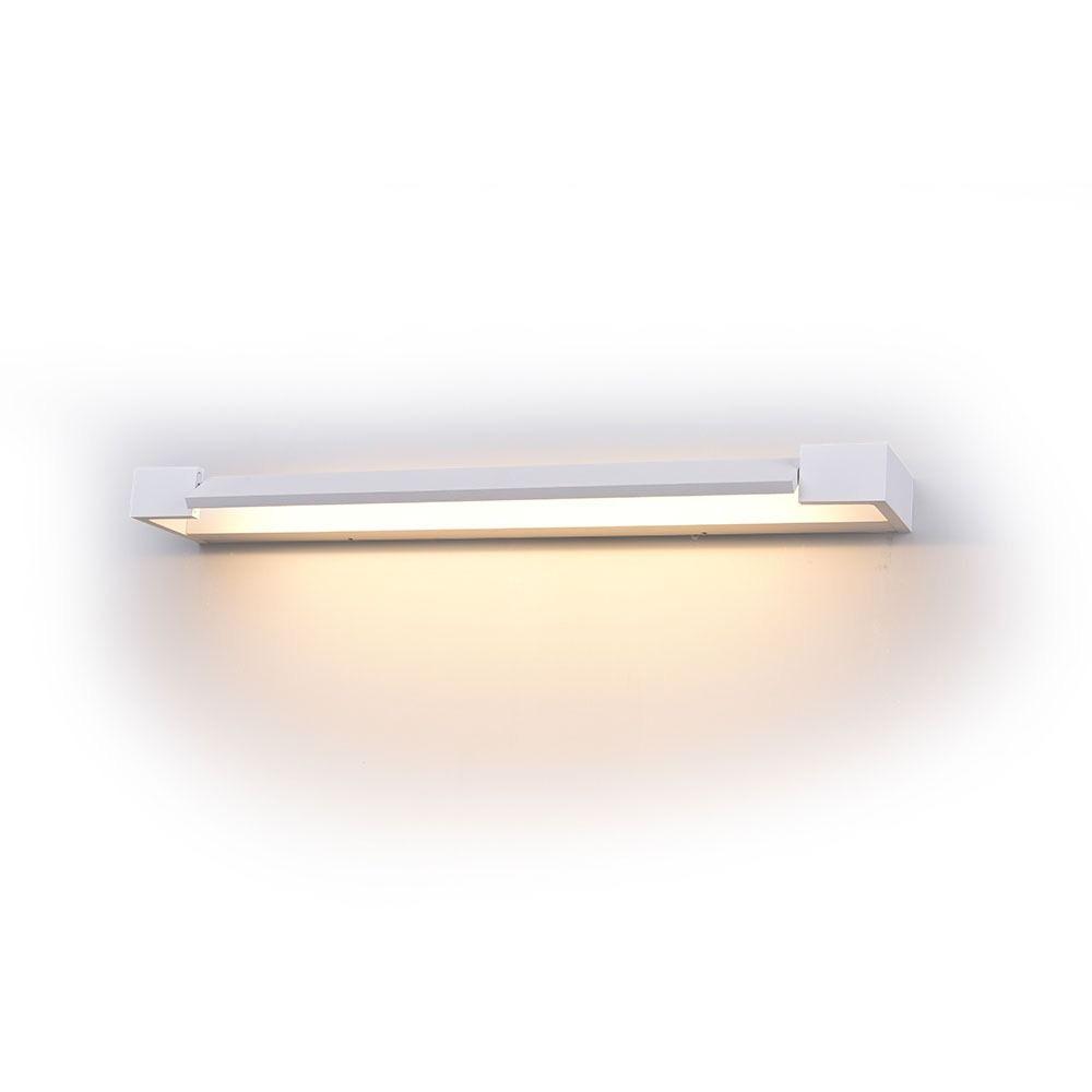 Lampa LED 18W de Perete, Corp Alb, IP44, Lumina Calda, Unghi Ajustabil