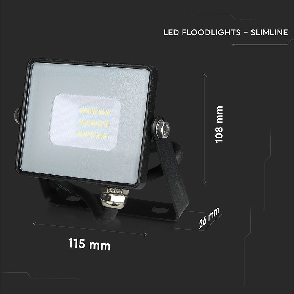 Proiector LED 10W, Corp Negru, Lumina Naturala cu Cip SAMSUNG