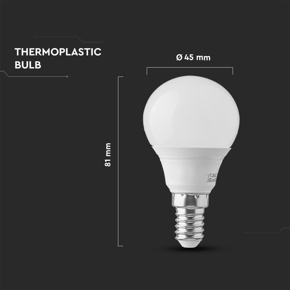Bec LED 7W, E14, P45, Lumina Naturala 4000K  cu Cip Samsung