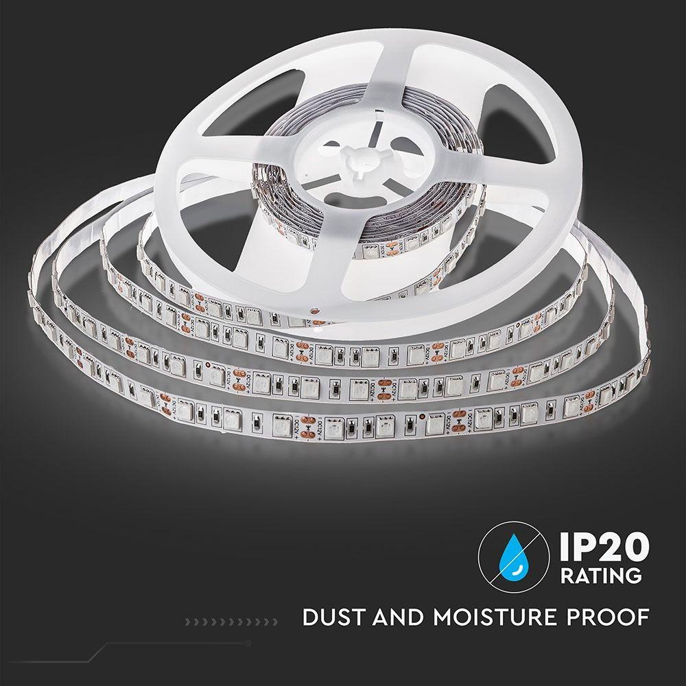 Banda LED 5050, 9W/m 60 LED/M, 12V, IP20, RGB + Alb Cald 3000K