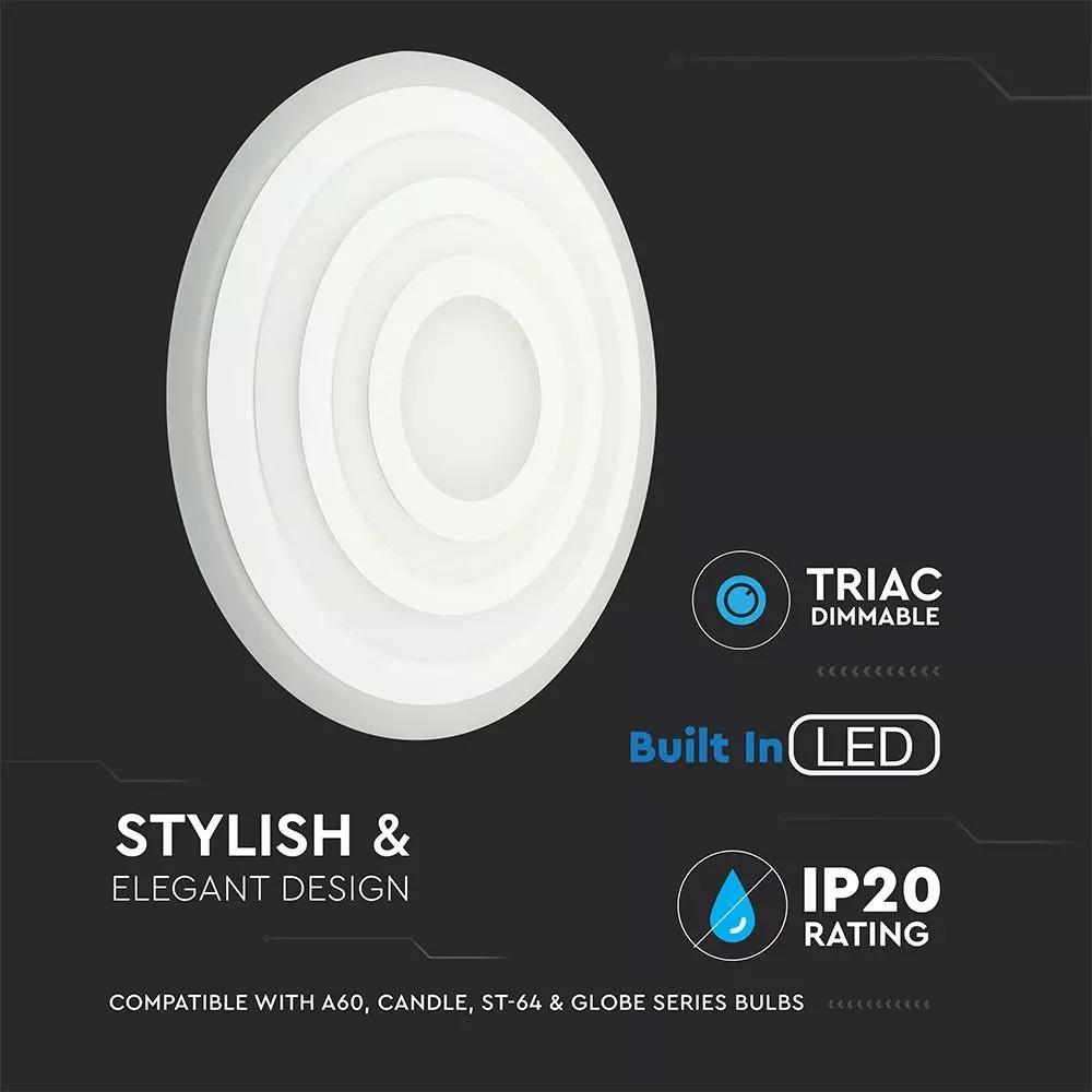 Aplica LED 85W cu Trei Inele Dimabila D600/400/200, Lumina Calda
