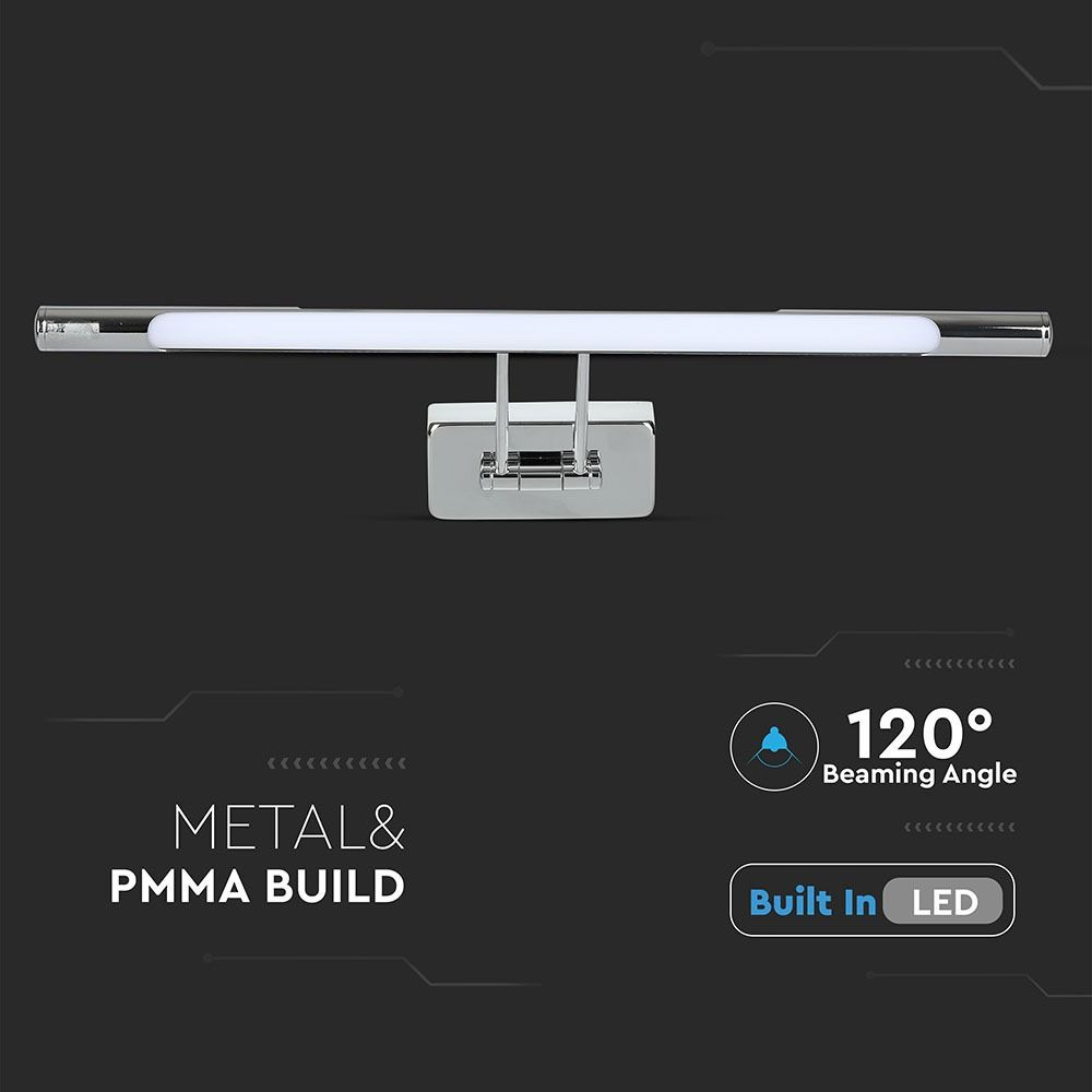Lampa LED 12W pentru Tablou/Oglinda, Cromata, Lumina Calda