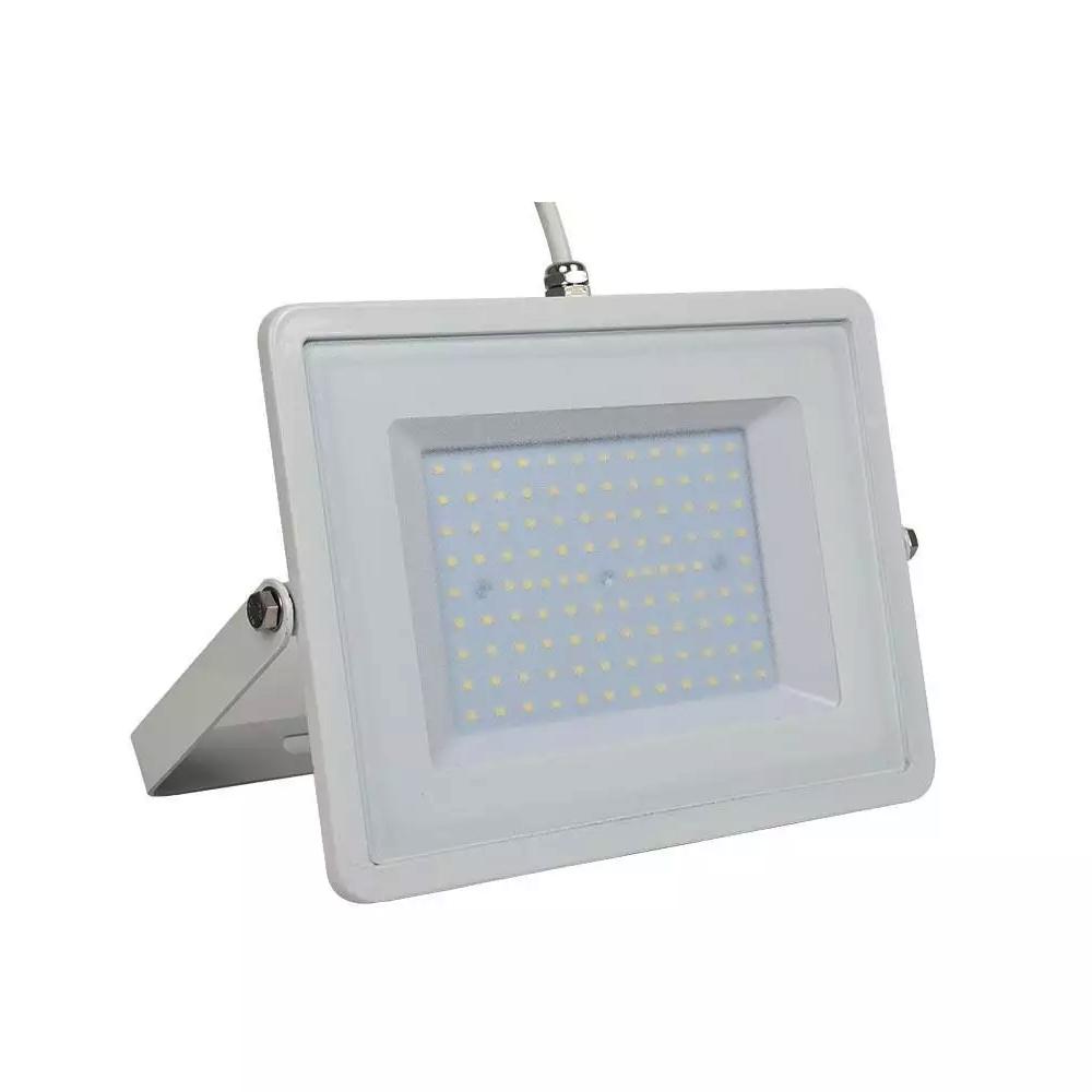 Proiector LED 100W, Corp Gri, Lumina Calda  cu Cip Samsung
