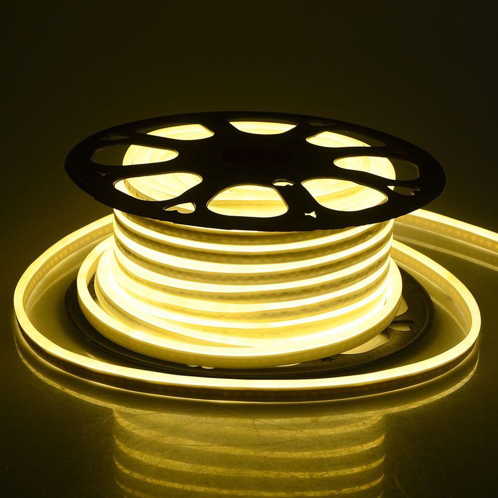 Neon Flexibil 24V din Silicon cu Lumina Calda (3000K)