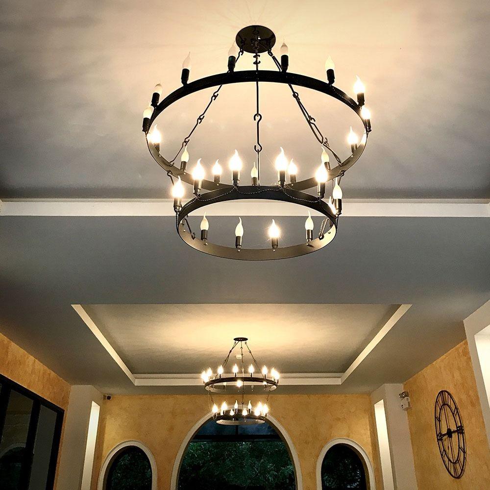 Bec LED 5.5W, E14, Plastic, Lumanare cu Flacara, Lumina Calda 3000K - SAMSUNG CIP