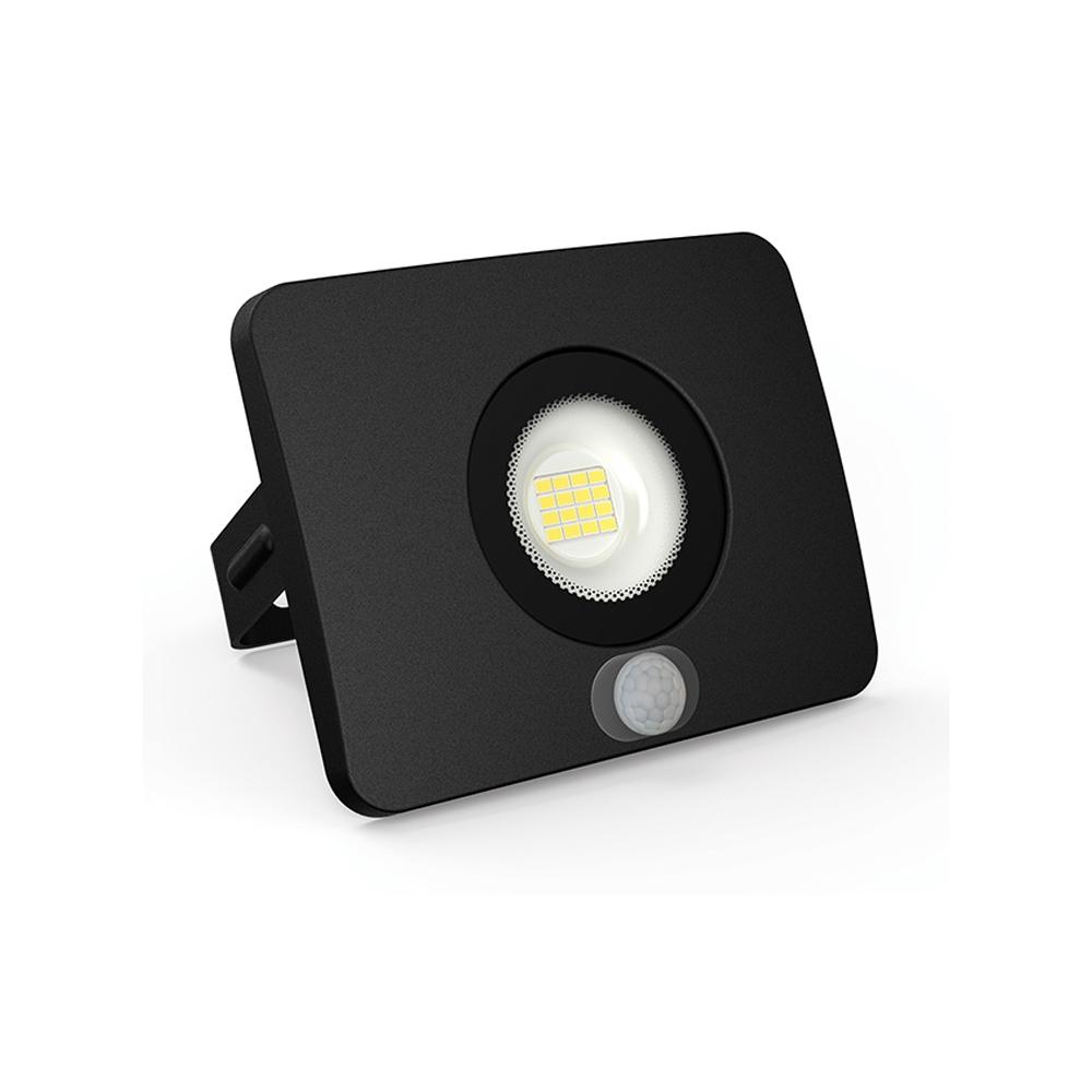 Proiector LED cu Senzor 30W, 2100LM, Corp Negru, Lumina Rece