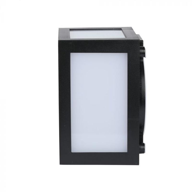 Lampa LED de Perete Patrata 12W, Corp Negru, Lumina Naturala (4000K) IP65
