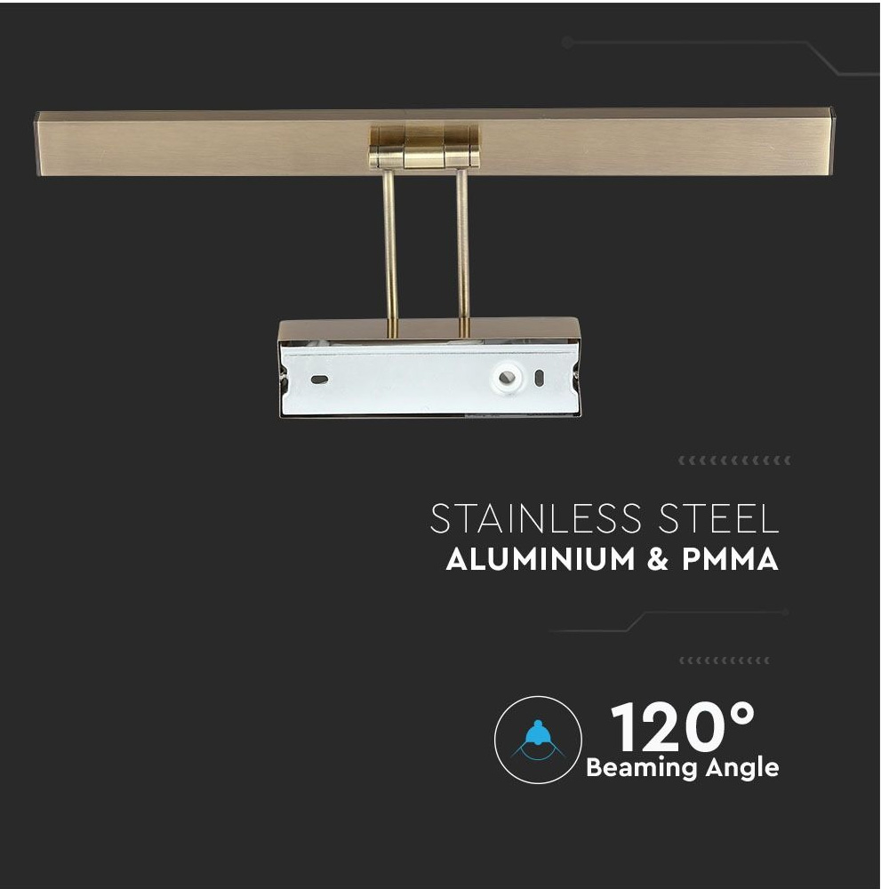 Aplica LED 8W, Auriu, Lumina Naturala