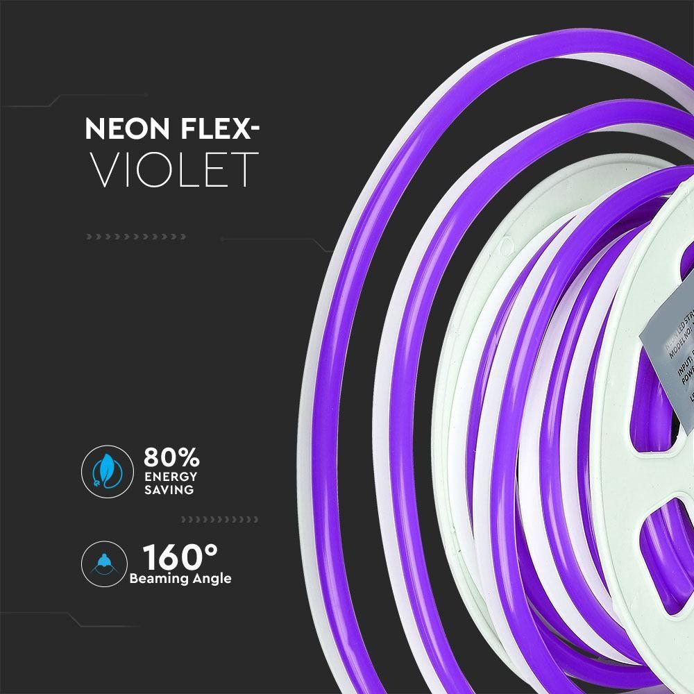 Neon Flexibil 24V Violet, 8-10W/M