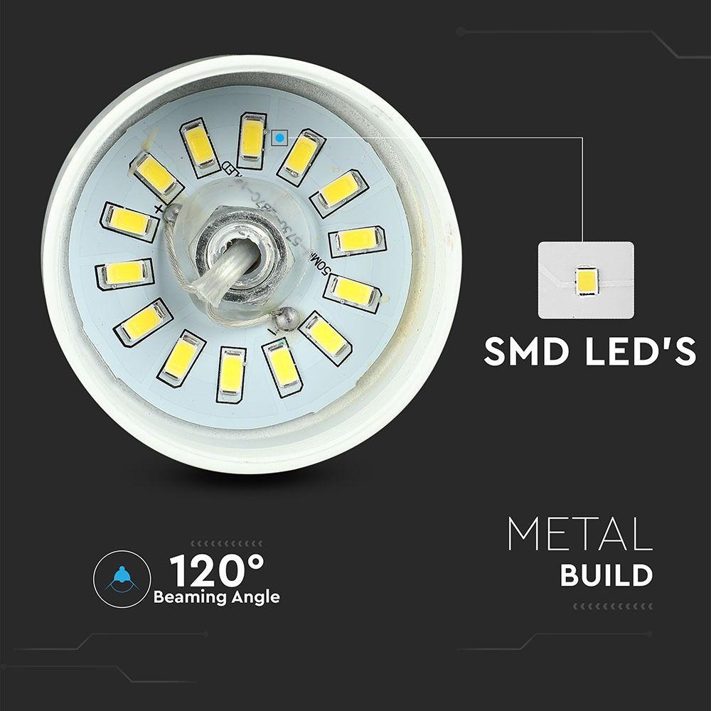 Pendul LED 7W, Acrilic, Abajur Alb, Lumina Neutra