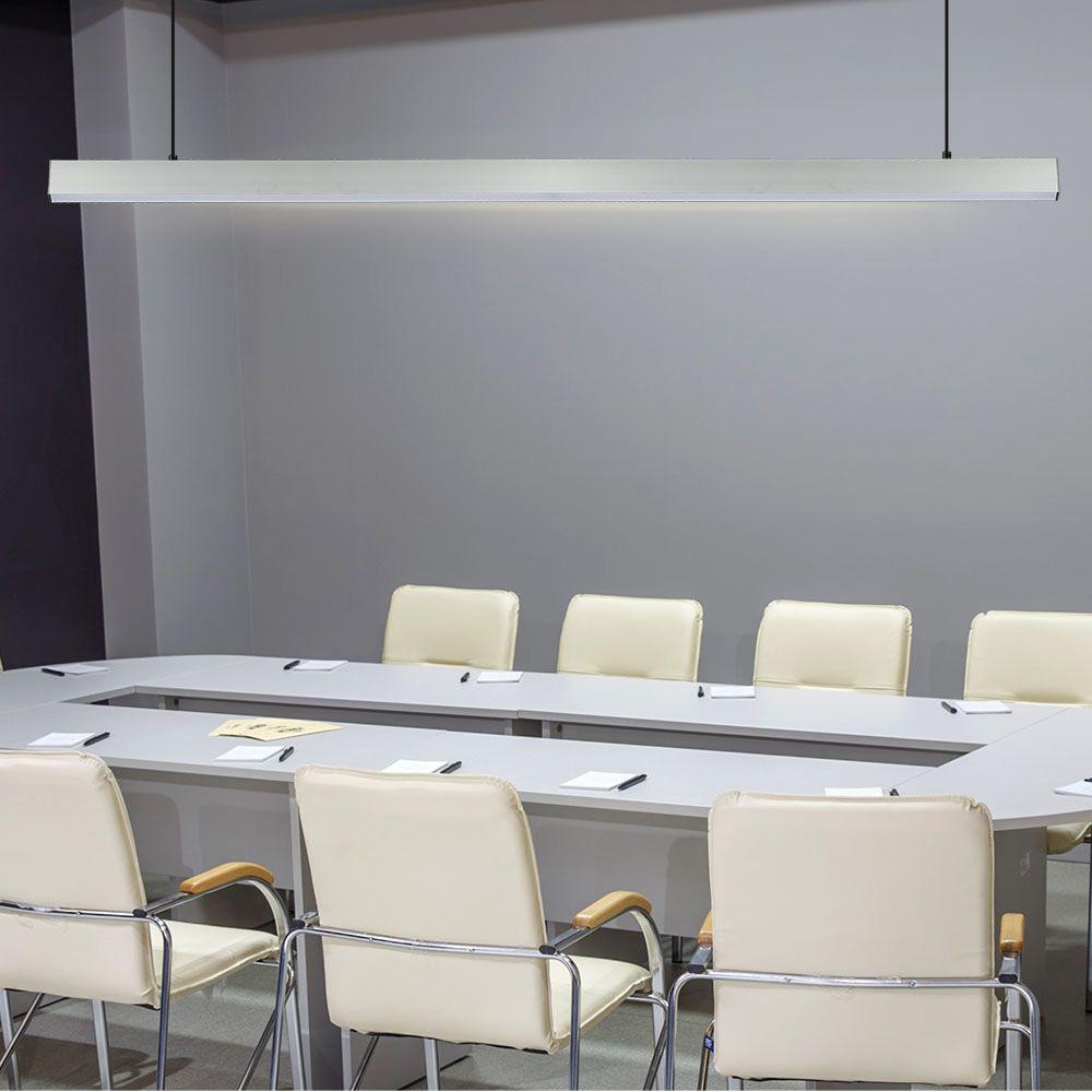 Lampa LED Liniara 40W, Suspendata, Corp Alb, Lumina Naturala (4000K) cu CIP SAMSUNG