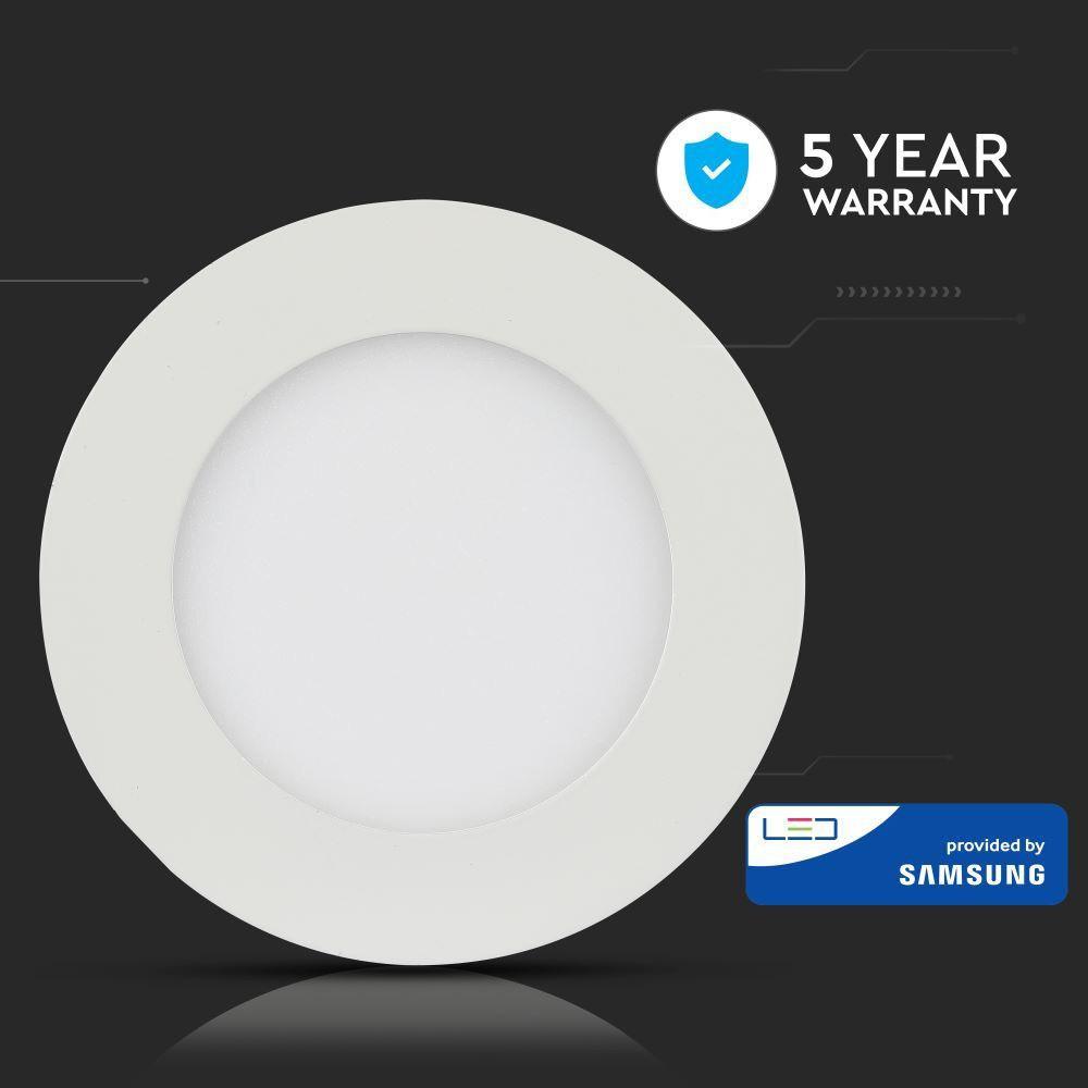 Panou LED 24W, Rotund, Lumina Rece 6400K - CIP Samsung