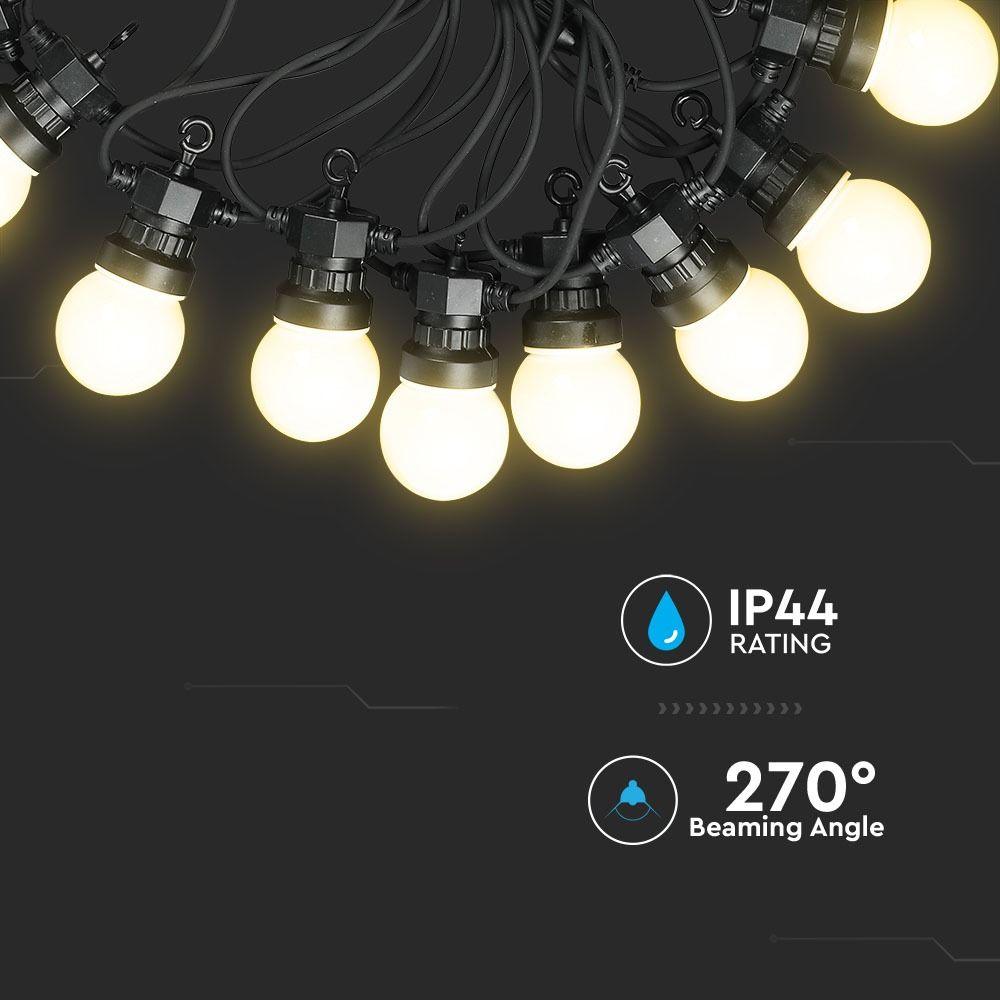 Ghirlanda Luminoasa LED 5m cu 10 Becuri de 0.5W, Lumina Calda (3000K)