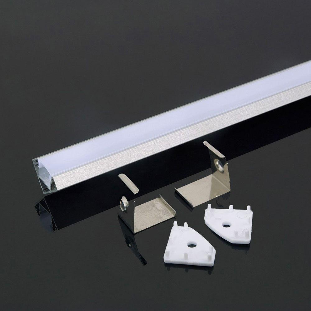 Profil de Aluminu cu Dispersor Mat, 2000 x 19 x 19mm