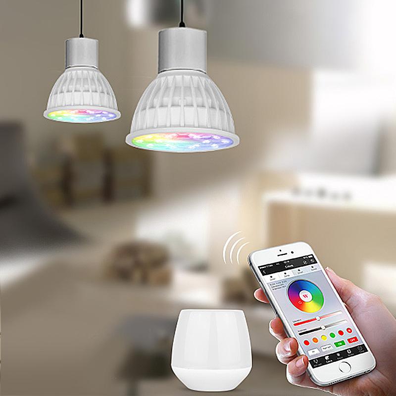 Spot LED 4W, RGB+CCT, 280LM, 2.4GHZ, RF