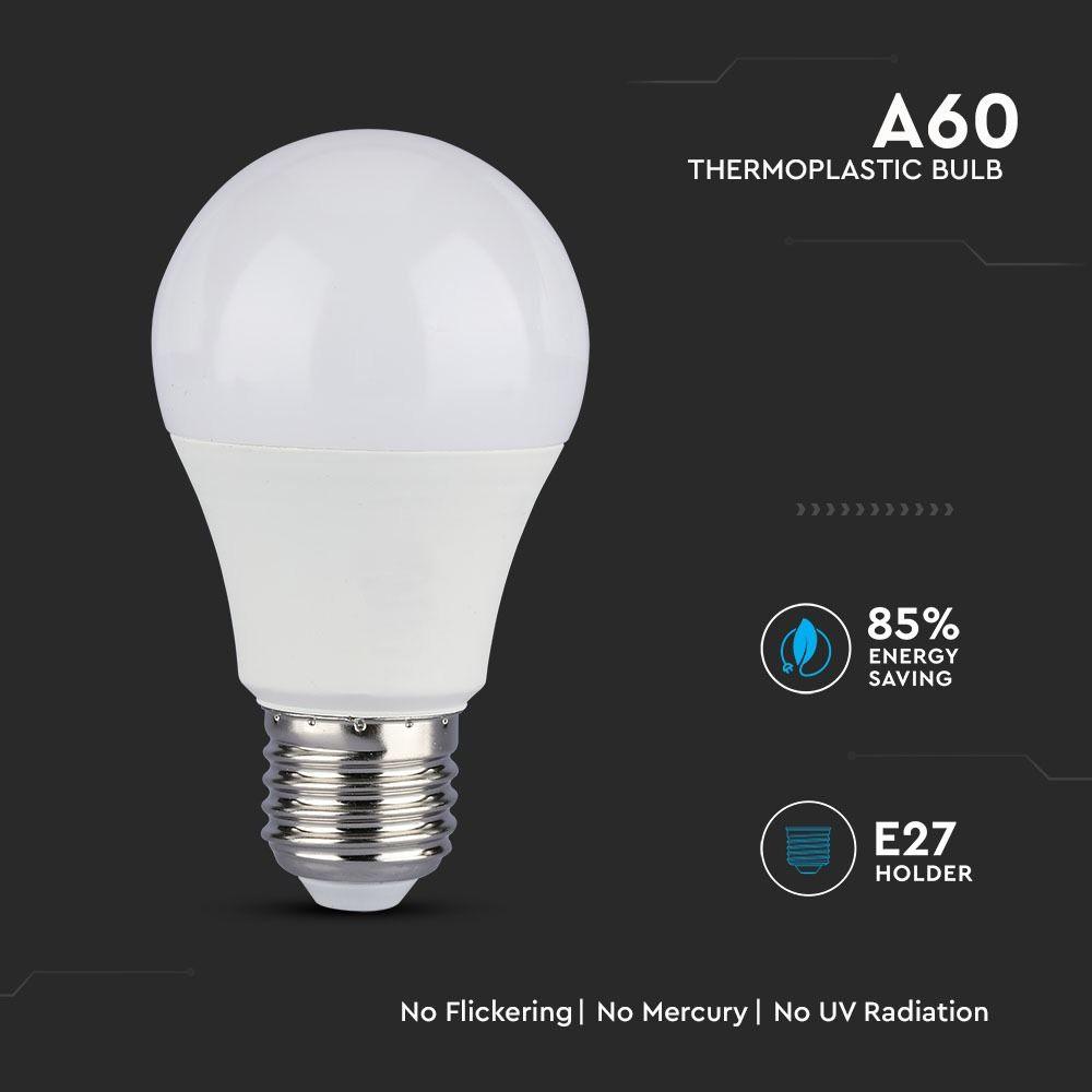 Bec LED 9W, E27, A58, Plastic, Lumina Calda 3000K cu CIP SAMSUNG
