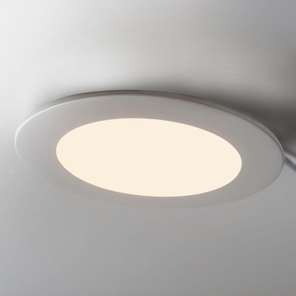 Panou LED Rotund Incastrat 22W, Slim, Lumina Rece 6400K