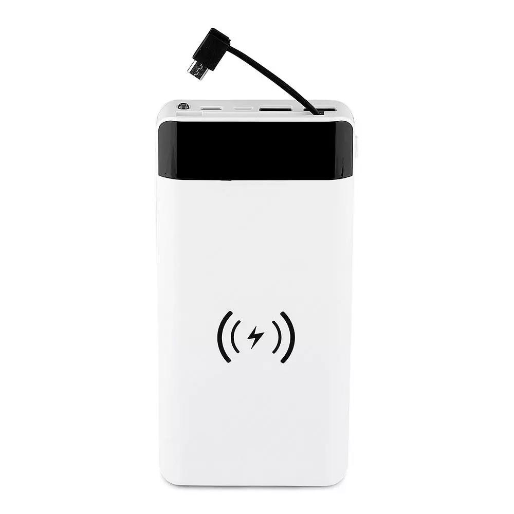 Baterie Externa Portabila, 20000mAh, Culoare Neagra, Wirelles
