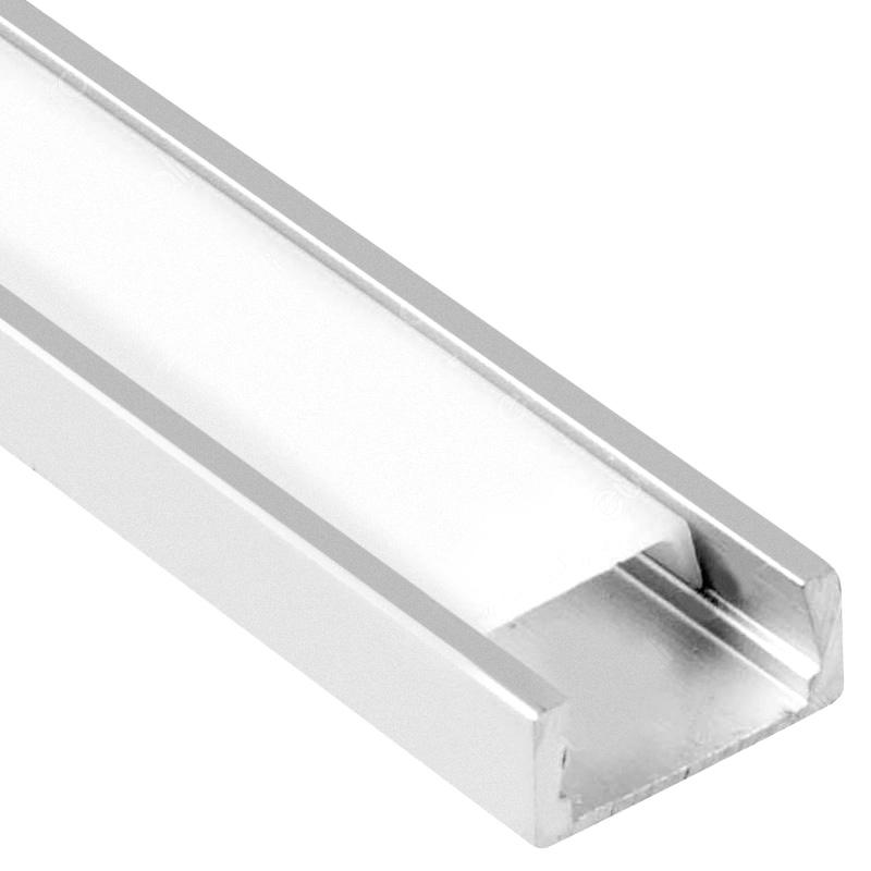 Profil de Aluminu cu Dispersor Mat, 2000 x 16 x 7mm