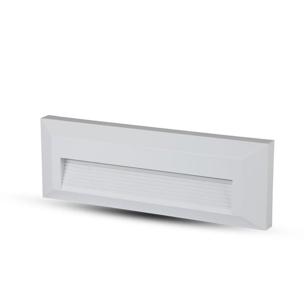 Lampa LED Dreptunghiulara pentru Scara 3W, Corp Alb, Lumina Naturala (4000K)