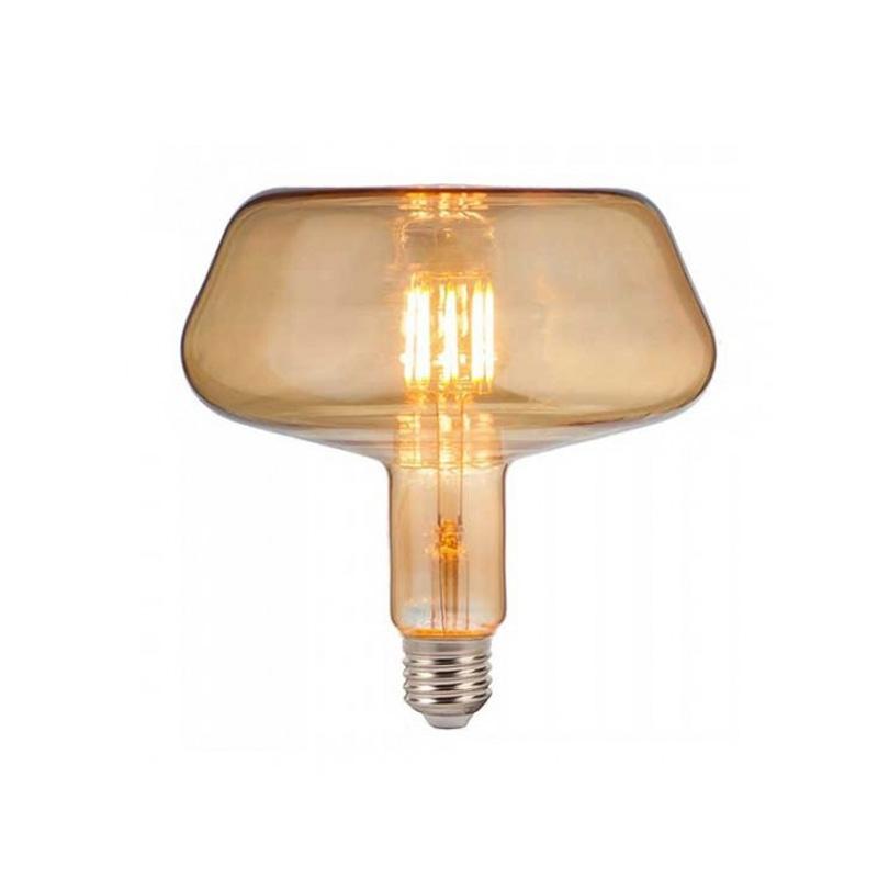 Bec LED Filament 8W, E27, T180, Amber Glass, Lumina Calda 2200K