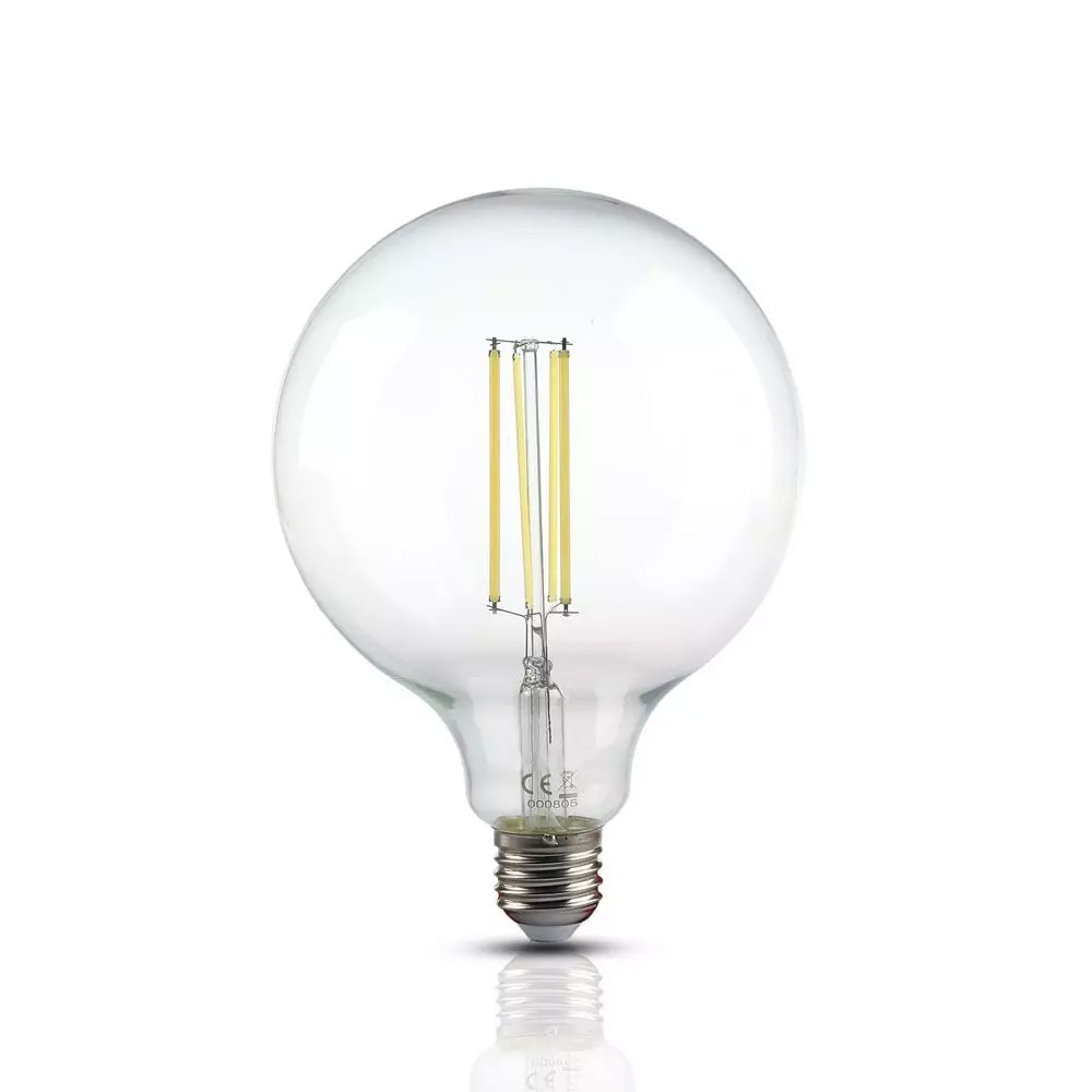 Bec LED 12.5W, Filament, E27, G125, Sticla Clara, Lumina Naturala (4000K)