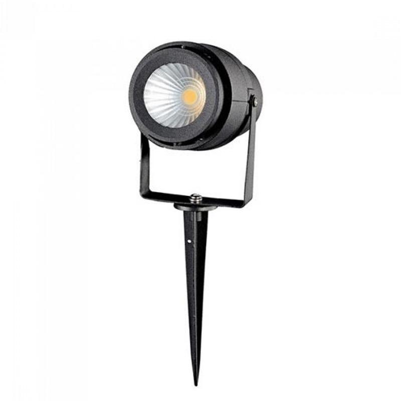 Lampa LED Gradina cu Tepusa 12W, Corp Negru, Lumina Verde