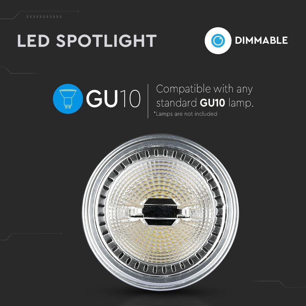 Spot LED AR111, 12W, GU10, Dimabil, Lumina Calda 3000K