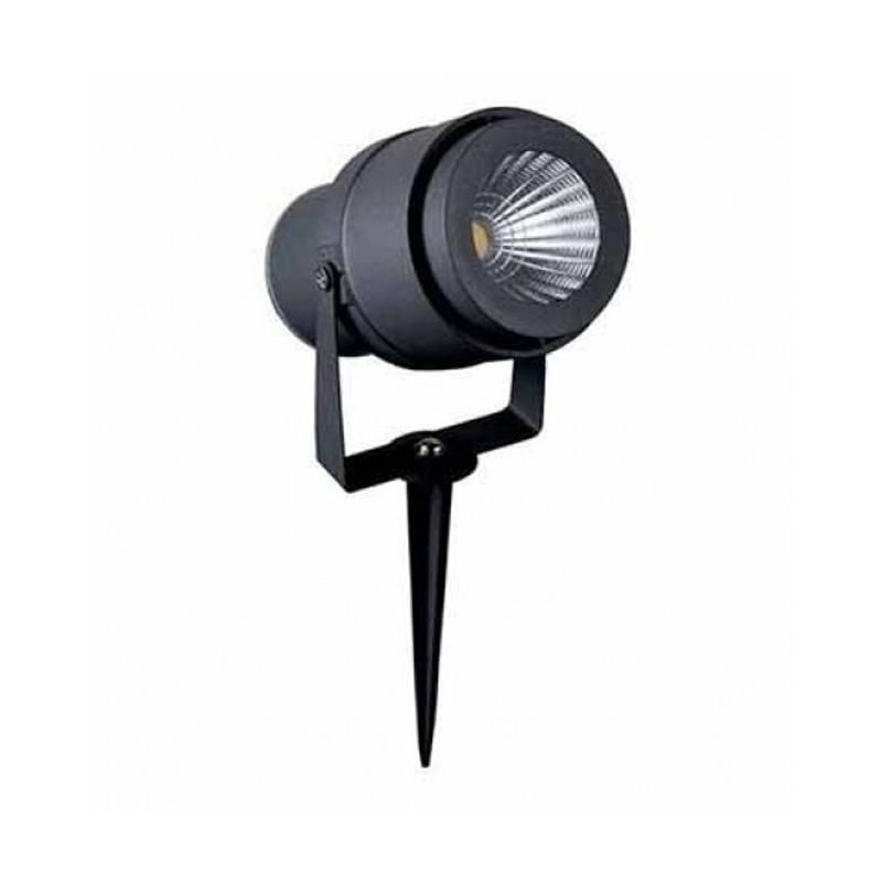 Lampa LED de Gradina cu Tepusa 12W, Corp Negru, Lumina Naturala (4000K)