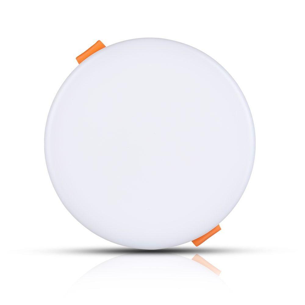 Panou LED Ajustabil 24W Rotund, Limina Calda 3000K Cip SAMSUNG
