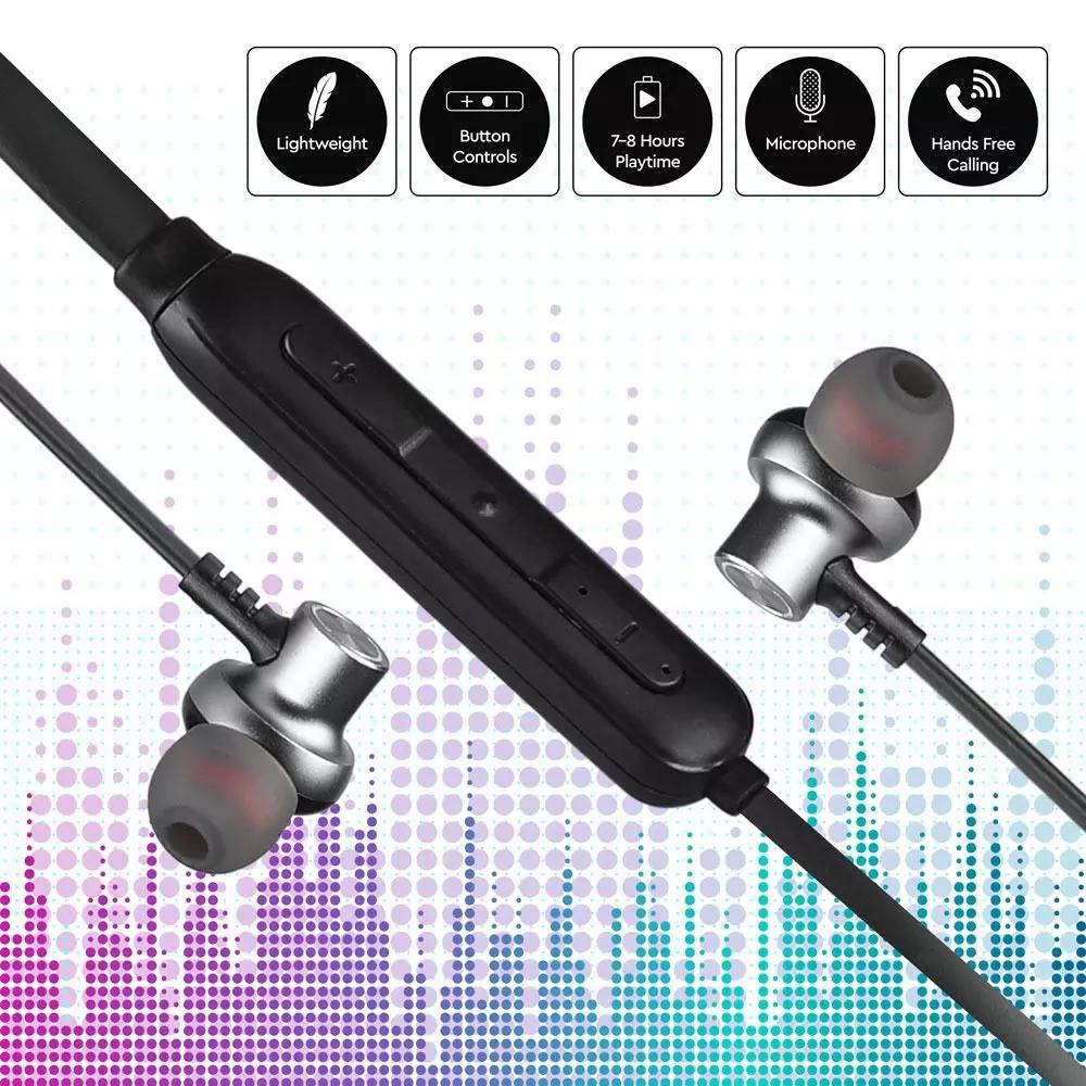 Casti Sport cu Bluetooth, 500mAh, Negre
