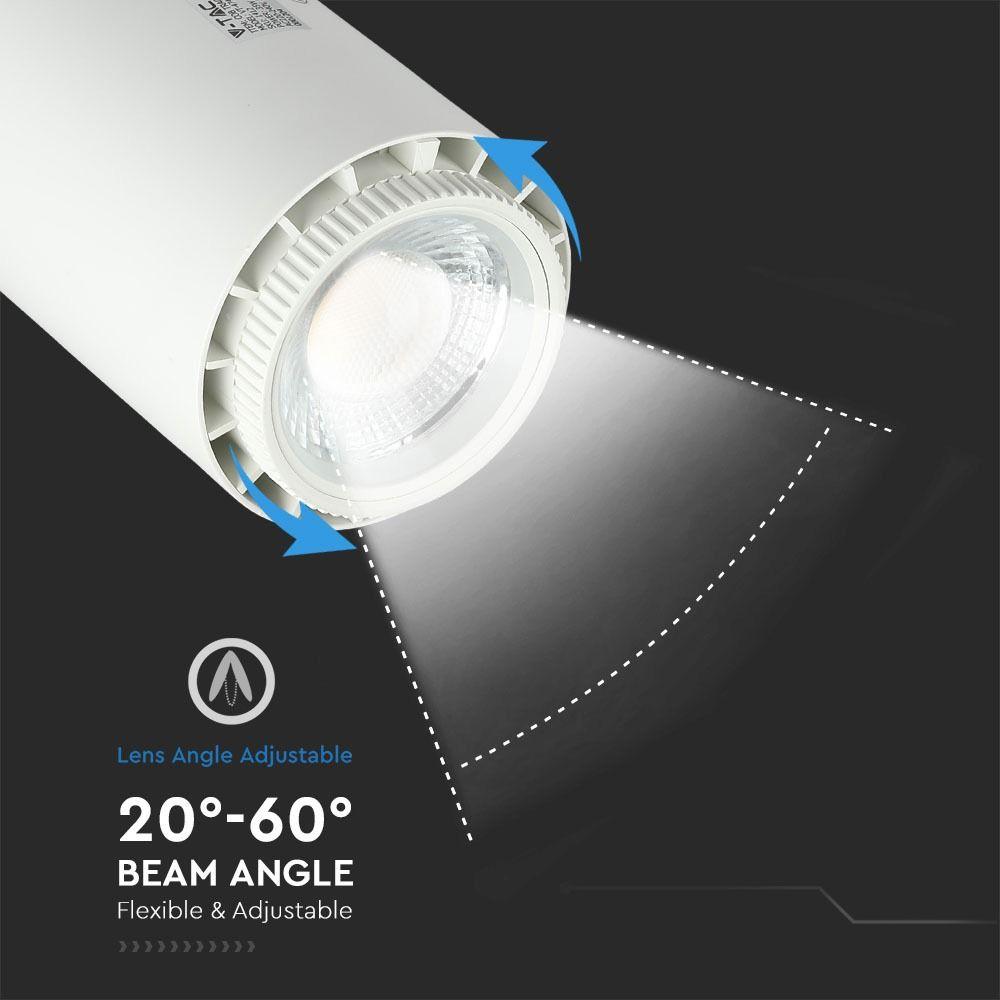 Proiector LED pe Sina 35W, 3 in 1, Corp Alb