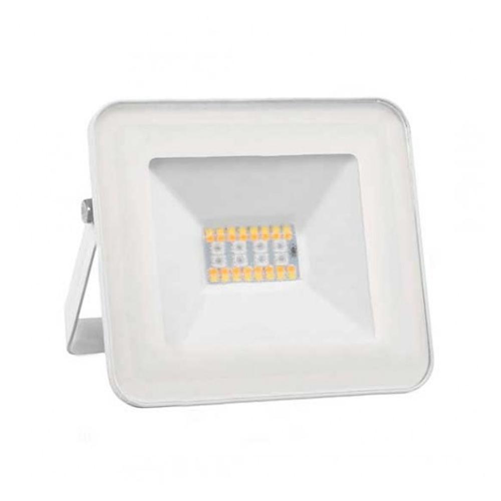Proiector LED RGB + Lumina Rece 20W cu Bluetooth, Corp Alb