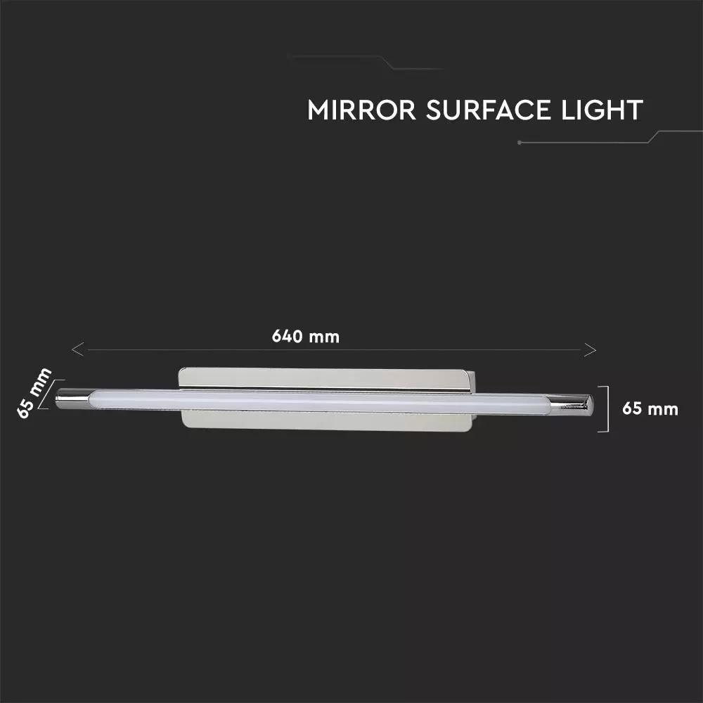 Lampa LED de Perete/Tavan 12W, Crom, Lumina Naturala