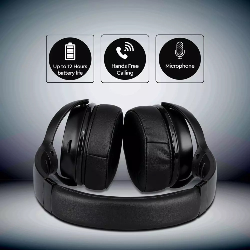 Casti Bluetooth Wirelles, 500mAh, Culoare Neagra -W/Bag