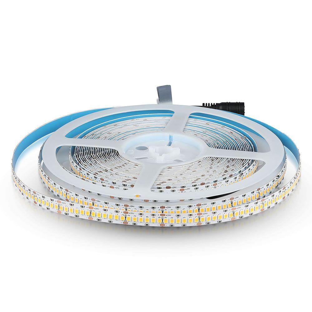 Banda LED 2835 18 W/m 240 LED/M, 24V, IP20, Lumina Calda 3000K CRI95+, Cip SAMSUNG